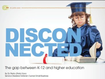 The gap between K-12 and higher education